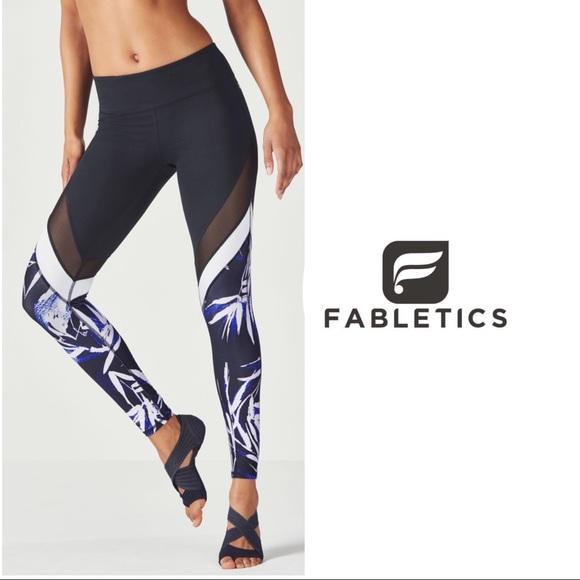 509b6cebb6bd5e Fabletics Pants | La Palma Print Solar Leggings | Poshmark